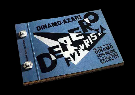 """Fig 2: Depero Futurista, known familiarly as the """"bolted book,"""" is considered the first Futurist object-book."""