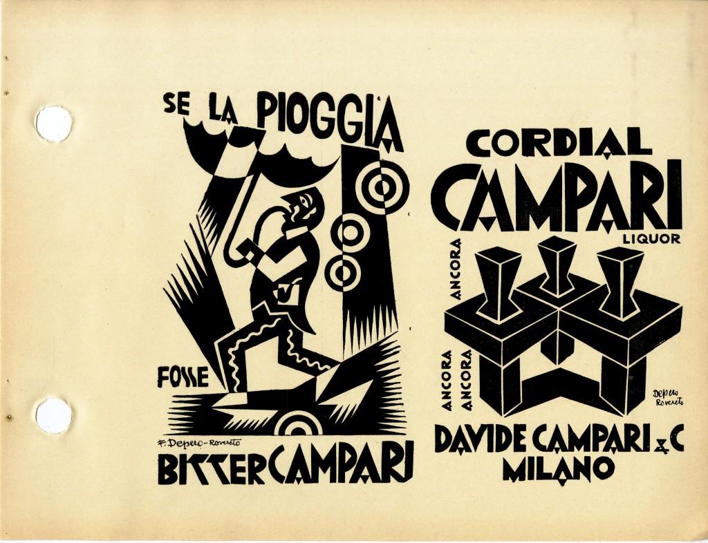 Fig. 5: One of Depero's ads for Campari, featured in Depero Futurista, 1927