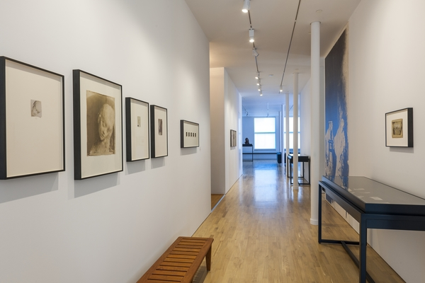 View of Medardo Rosso installation at CIMA (October 2014-June 2015). Photo by Walter Smalling.