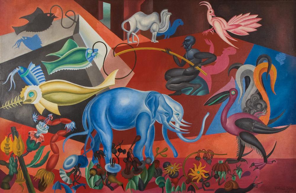 Fortunato Depero, Flora e fauna magica, 1920, oil on canvas, private collection