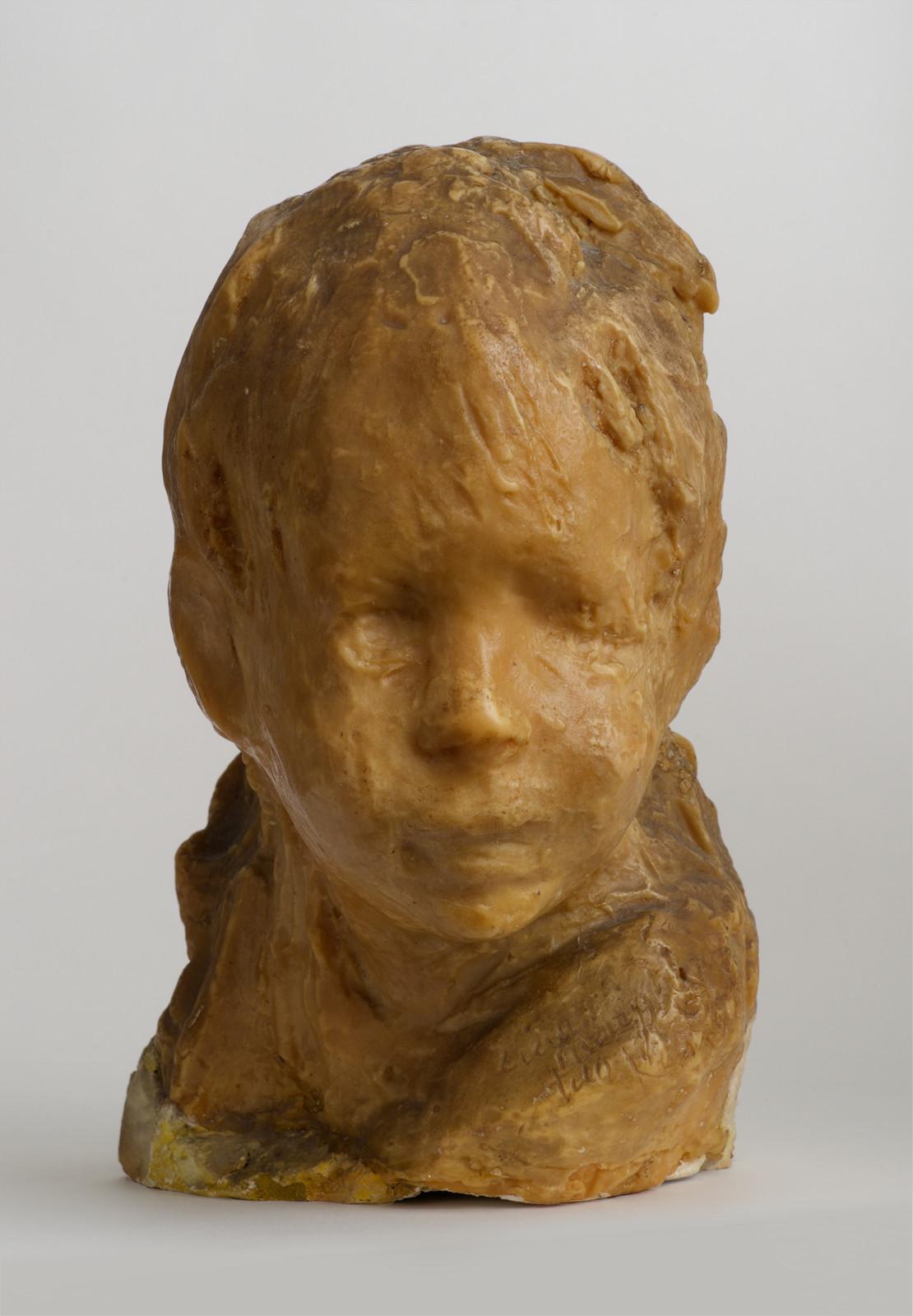Medardo Rosso, Bambino ebreo, c. 1892-1893 / cast 1915, wax over plaster. Image courtesy of Peter Freeman, Inc., photography by Jerry Thompson.