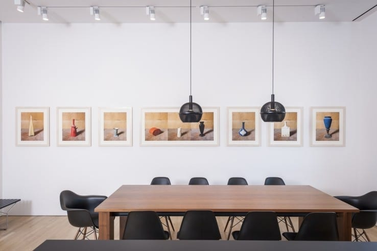 View of Joel Meyerowitz's photographs from his Morandi's Objects series on view as part of the Giorgio Morandi installation at the Center for Italian Modern Art. Photo by Walter Smalling Jr., 2015.