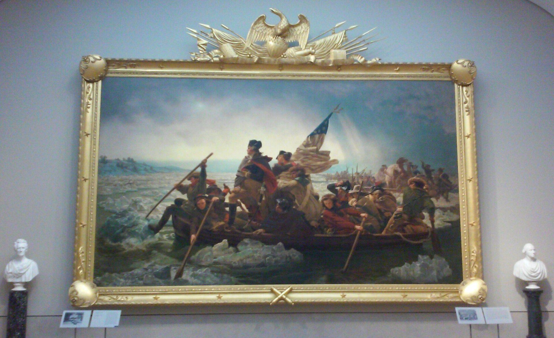 Emanuel Leutze (1816–1868), Washington Crossing the Delaware, 1851, oil on canvas, 149 x 255 in. (378.5 x 647.7 cm), Metropolitan Museum, New York. Photo: Ilaria M. P. Barzaghi.