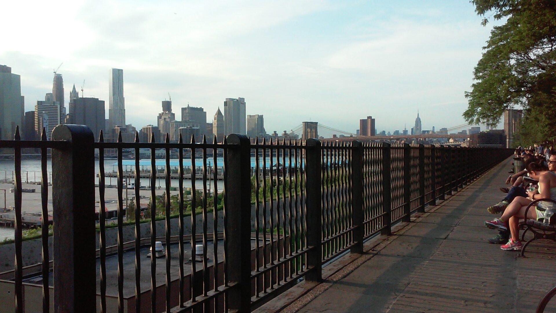 The Brooklyn Heights Promenade. Photo: Ilaria M. P. Barzaghi.
