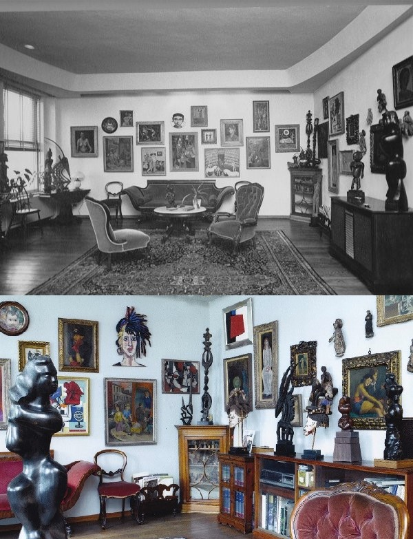 Living Room of the Renee and Chaim Gross Foundation. © 2015 The Renee and Chaim Gross Foundation All rights reserved.