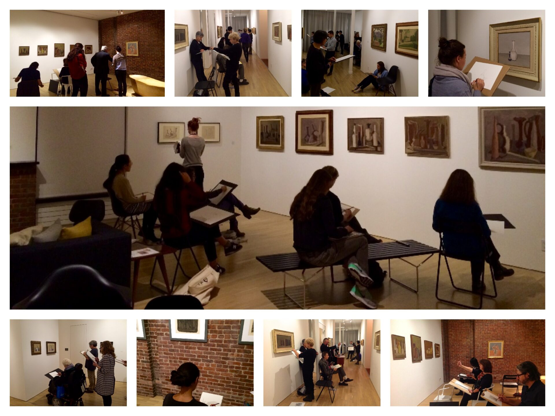 Artists at work. Photo collage: Chiara De Leo