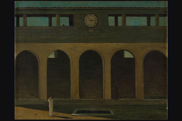 Giorgio de Chirico, L'Enigma dell'Ora, 1910 © 2016 Artists Rights Society (ARS), New York / SIAE, Rome
