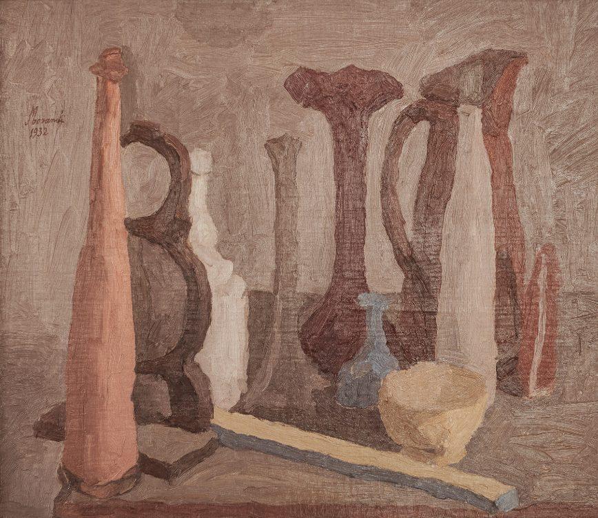 Giorgio Morandi, Still Life, 1932 (Vitali 170); Galleria d'Arte Moderna, Rome. (c) 2015 Artists Rights Society (ARS), New York / SIAE, Rome.