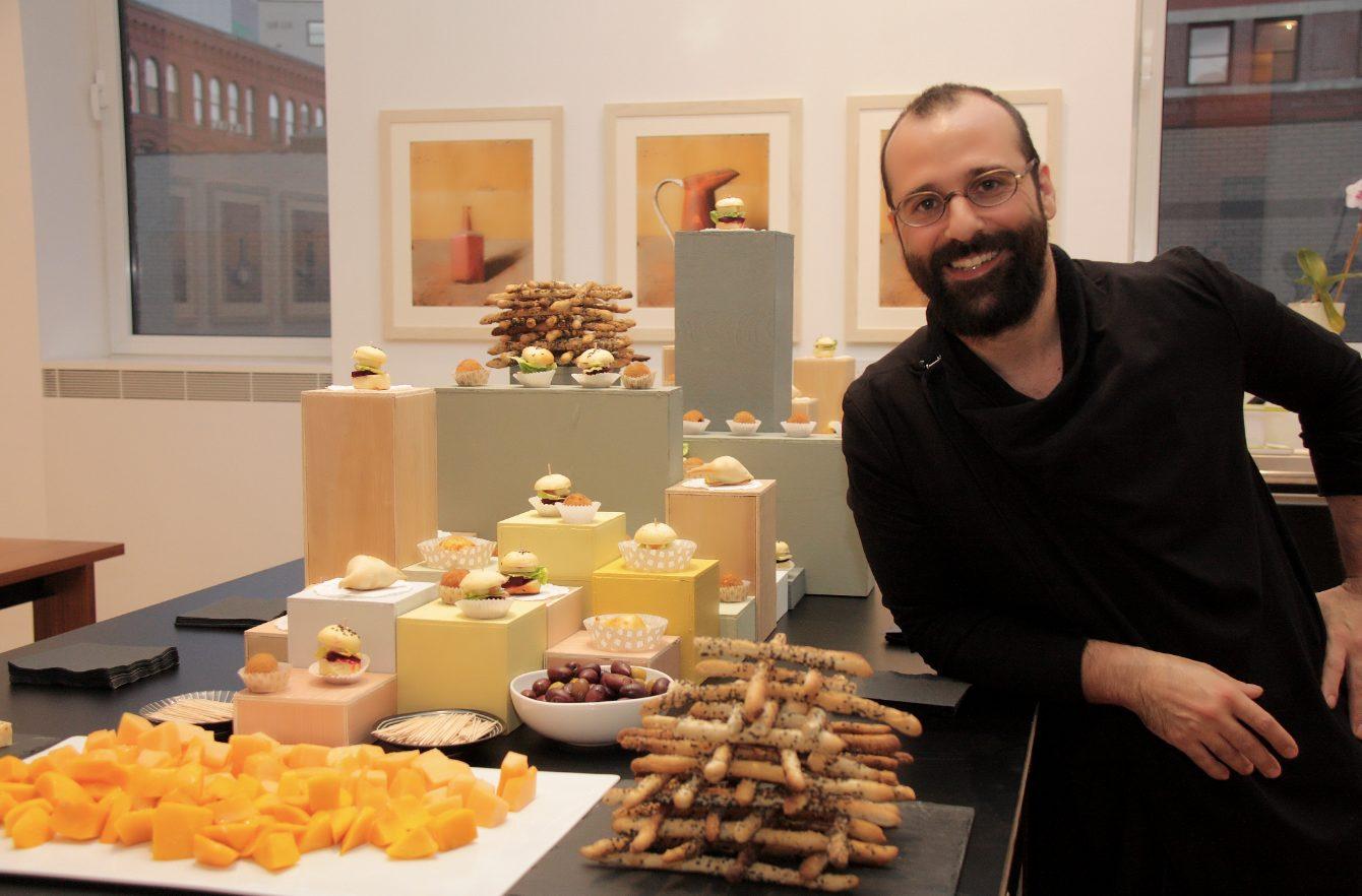 "Chef Turi Scalora with his Morandi ""culinary intervention."" Photo by Luisa de Luca."