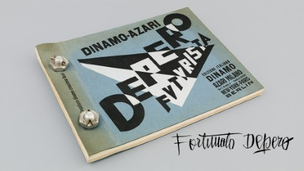 Fortunato Depero's Bolted Book: Depero Futurista (Dinamo-Azari, Milan, Italy, 1927), artist's book bound with bolts, 32 x 24.2 cm. © 2016 Artists Rights Society (ARS), New York / SIAE Rome. Photo by Jason Burch.