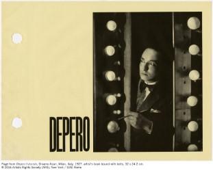 Page from Depero Futurista (Dinamo-Azari, Milan, Italy, 1927). © 2016 Artists Rights Society (ARS), New York / SIAE Rome.