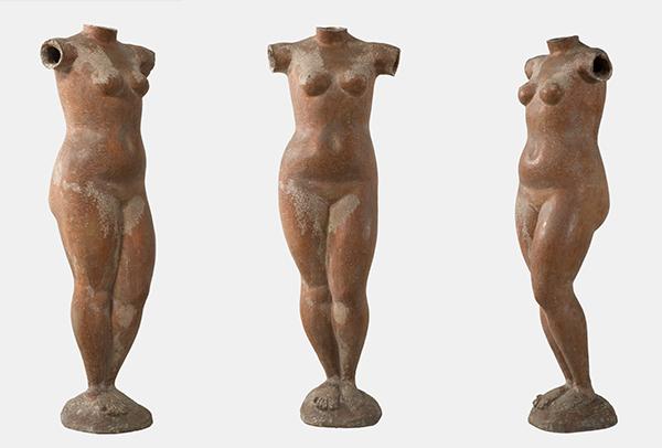 "Marino Marini, ""Venere,"" 1945. Terracotta, h. 113 cm. Private Collection. Marino Marini, Venere, 1945. © 2018 Artists Rights Society (ARS), New York / SIAE, Rome"