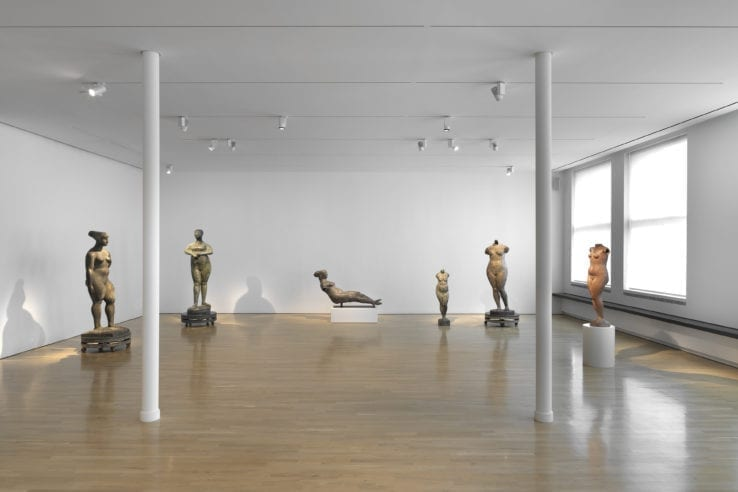 Installation view of Marino Marini: Arcadian Nudes. Shot by Dario Lasagni