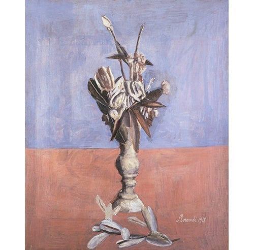 """Giorgio Morandi, """"Fiori (Flowers),"""" 1918. Oil on canvas, 82 x 66 cm. Pinacoteca di Brera, Milan, Courtesy of MiBAC (c) 2018 Artists Rights Society (ARS) / SIAE,Rome."""