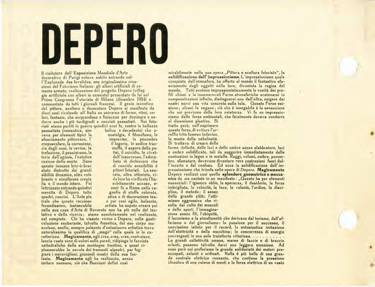Depero's 'Bolted Book' and Futurist Publishing - Italian